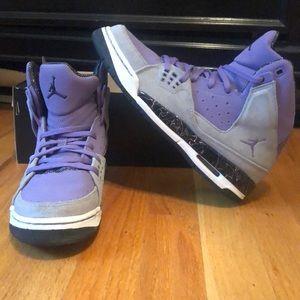 Purple and Gray Girls Jordan's size 7 US